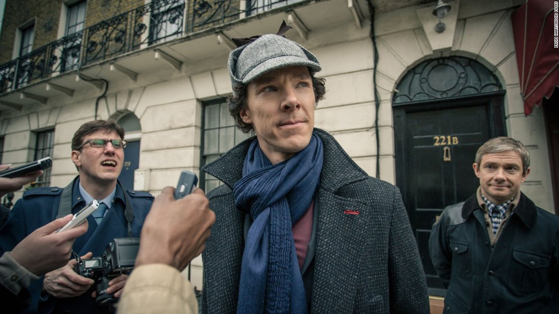 """Sherlock,"" starring Benedict Cumberbatch and Martin Freeman, takes place in present-day England. A 90-minute special airing in January takes the characters back in time to 1890s London, the original setting of Sir Arthur Conan Doyle's Sherlock Holmes tales. Television has mined Doyle's detective tales for inspiration for many shows:"