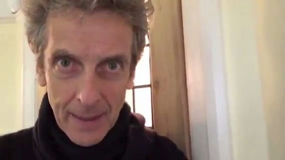"""Peter Capaldi, who plays the 12th incarnation of Doctor Who, sent a video message to a 9-year-old fan grieving the loss of his grandmother. """"You should know that we"""
