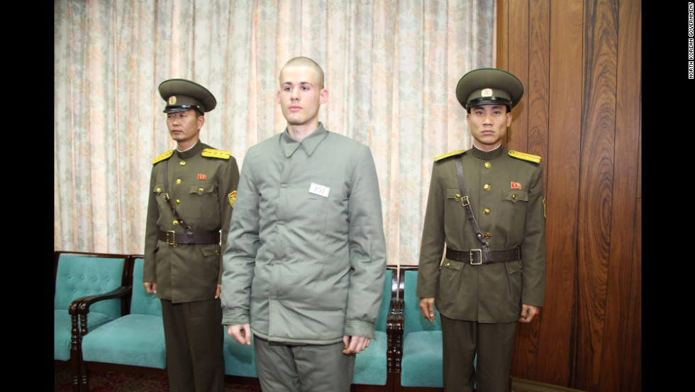 "Matthew Todd Miller, shown here shortly before his release, had been detained since April. He was convicted in September of committing ""acts hostile"" to North Korea."