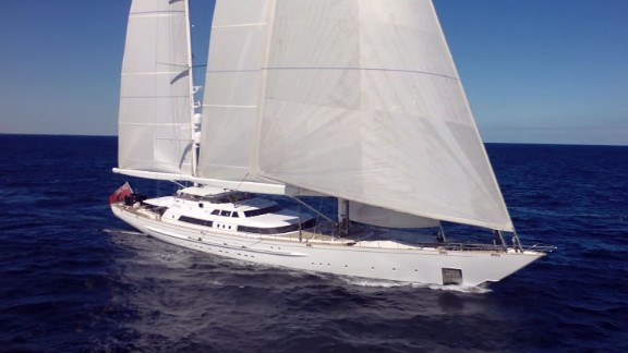 This shot of a superyacht was captured using the latest in drone technology -- which have developed considerably in the past decade.