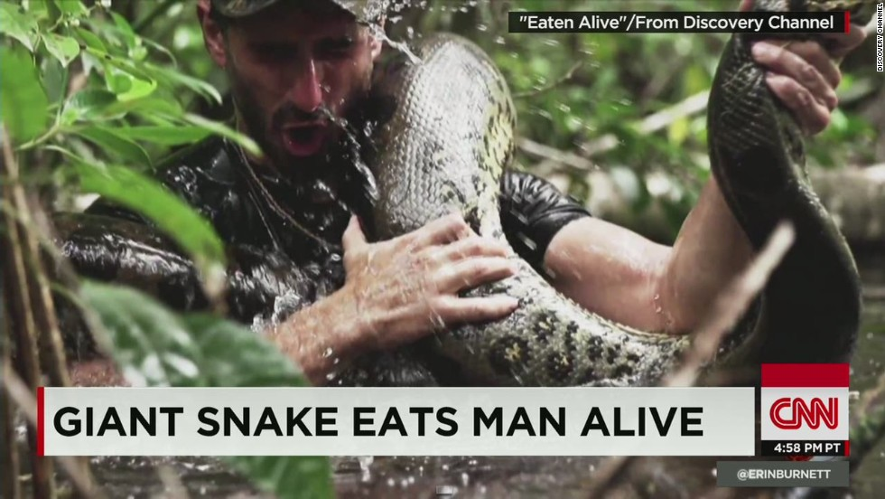 Did guy get eaten alive by snake? - CNN Video