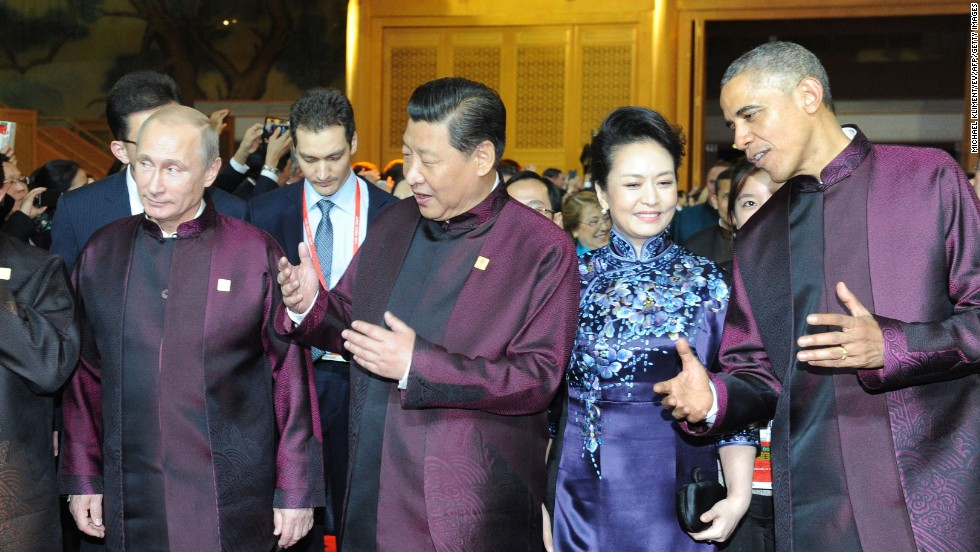 Obama and Putin often flanked Xi during the APEC summit, but only spoke for 15 to 20 minutes throughout the event.