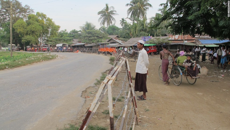 Rohingya, encamped in areas they are prohibited from leaving, are unable to seek work or access education or health services in the city, just a few hundred meters away.