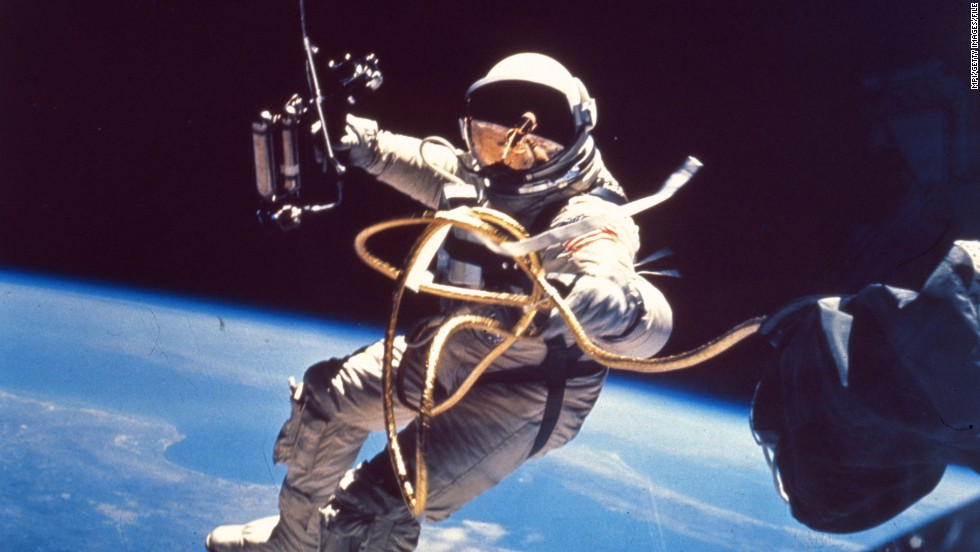 Images like this, of Edward White becoming the first American to walk in space in 1965, captured the imaginations of a nation.
