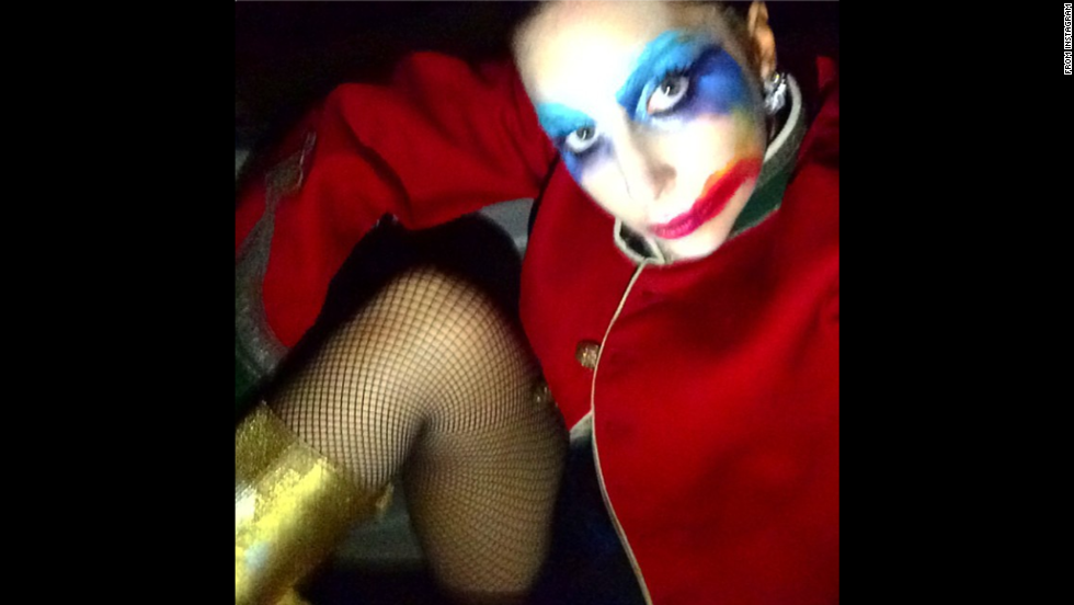 "Lady Gaga <a href=""http://instagram.com/p/vPXPYjpFOh/"" target=""_blank"">posted this selfie</a> on Monday, November 10, in honor of the recent anniversary of her third studio album. ""Happy Birthday ARTPOP,"" she said. ""An album for the rebellious creative spirit."""