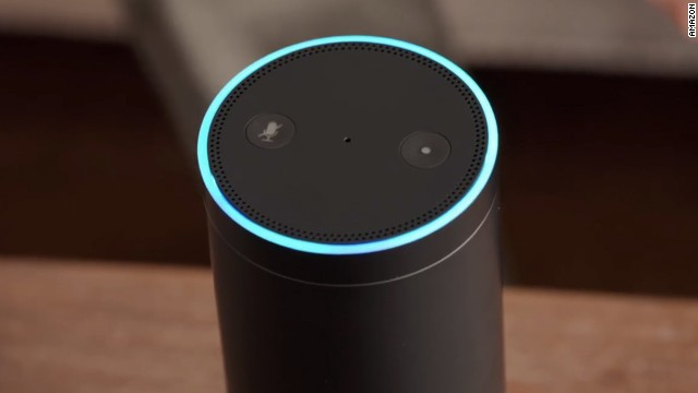 Amazon's Echo speaker is always listening and ready to field voice commands, no button pressing needed.