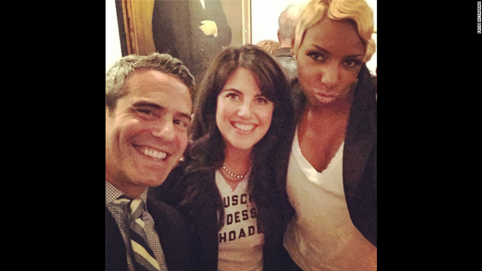 "TV personality Andy Cohen <a href=""http://instagram.com/p/vFNH3SnwWJ/"" target=""_blank"">posted this selfie</a> with Monica Lewinsky and ""Real Housewives of Atlanta"" star NeNe Leakes on Thursday, November 6. They were celebrating Cohen's latest book, ""The Andy Cohen Diaries,"" at CNN anchor Anderson Cooper's house. Cohen is an executive producer on ""The Real Housewives"" franchise."