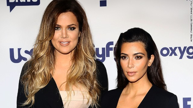 Sisters Khloe, left, and Kim Kardashian were the talk of the Internet on November 11.