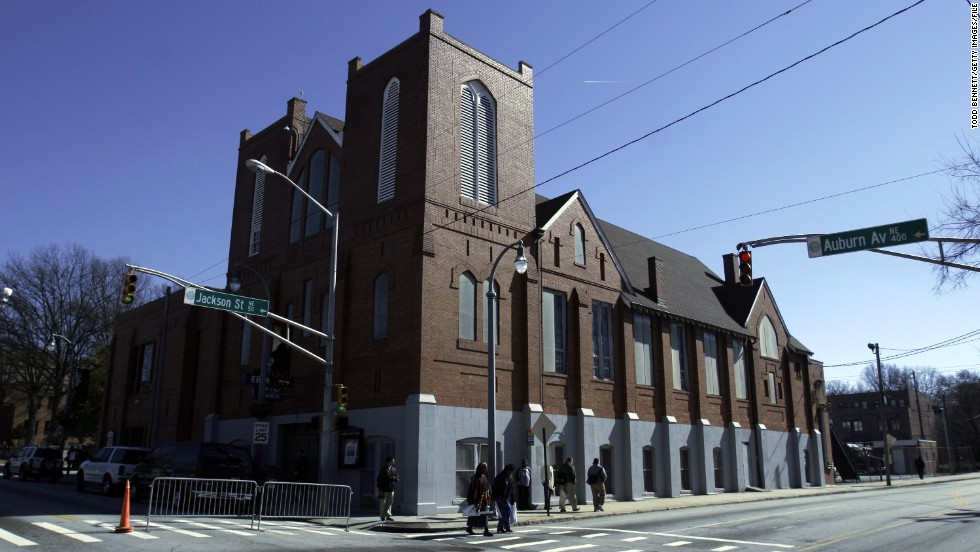 King co-pastored at Atlanta's Ebenezer Baptist Church during the last eight years of his life.