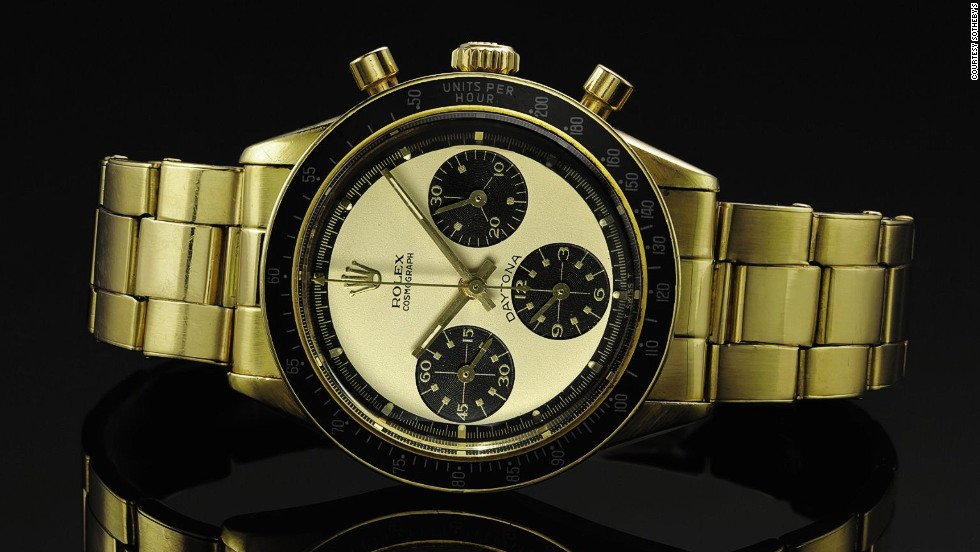 "A rare Daytona ""Paul Newman"" Rolex from circa 1968 sold for $252,867."