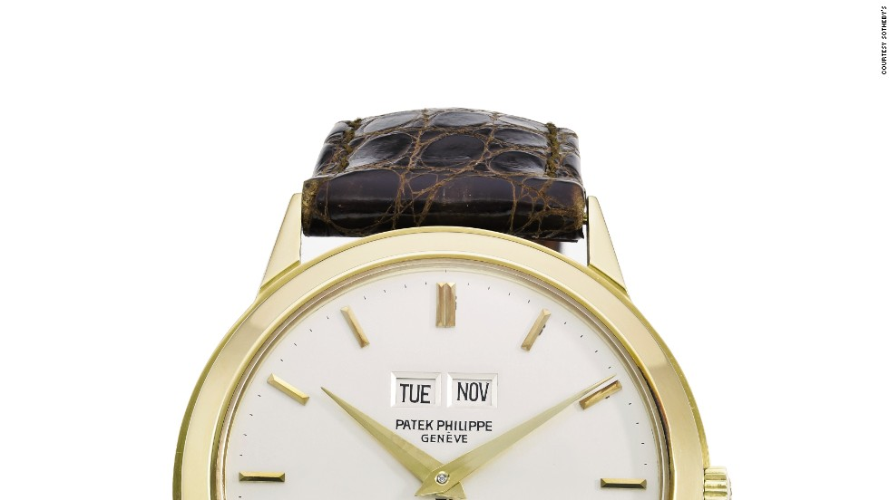 A Patek Philippe watch from Sotheby's New York's Andy Warhol collection sold for $302,408.