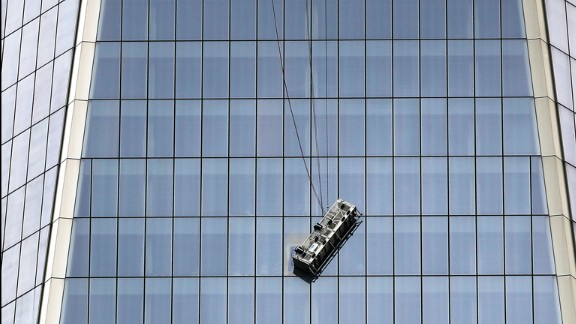 New York emergency crews rescued two workers trapped on a window-washing scaffold dangling perilously at the 69th floor of the 1,776-foot One World Trade Center building in lower Manhattan on Wednesday, November 12, authorities said.