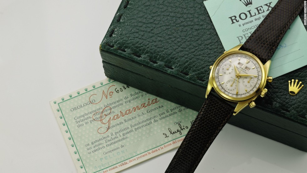 This Rolex chronograph wristwatch from the early 1950s sold for $221,904.