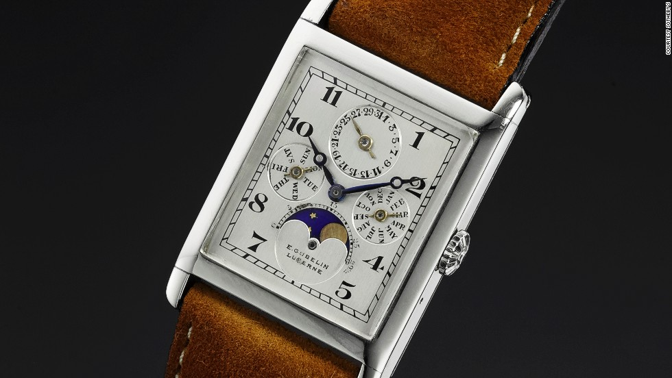 This Audemars Piguet triple-calendar watch, which was made in 1924, sold for $209,518.