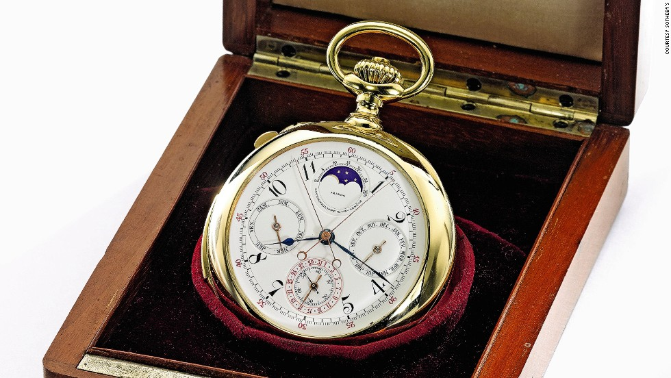 This Patek Philippe pocket watch from 1904 sold for $277,638.