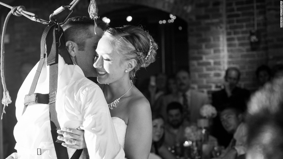 Paraplegic groom stands for first wedding dance cnn the couple met at a miranda lambert concert shortly after johnson had returned from a tour photos a very special first dance junglespirit Image collections