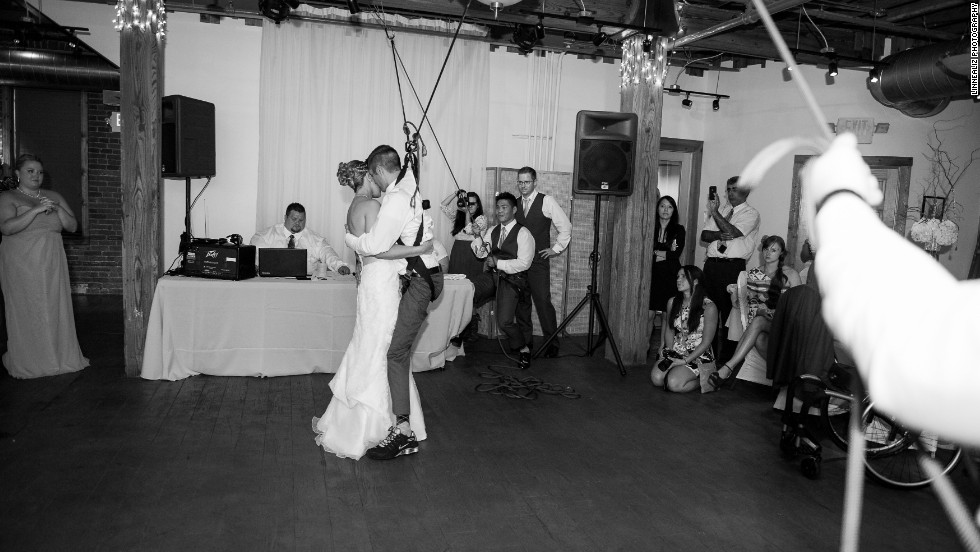 """The dance was a beautiful moment to not only capture, but to experience,"" wedding photographer Rachel Linnea told CNN."