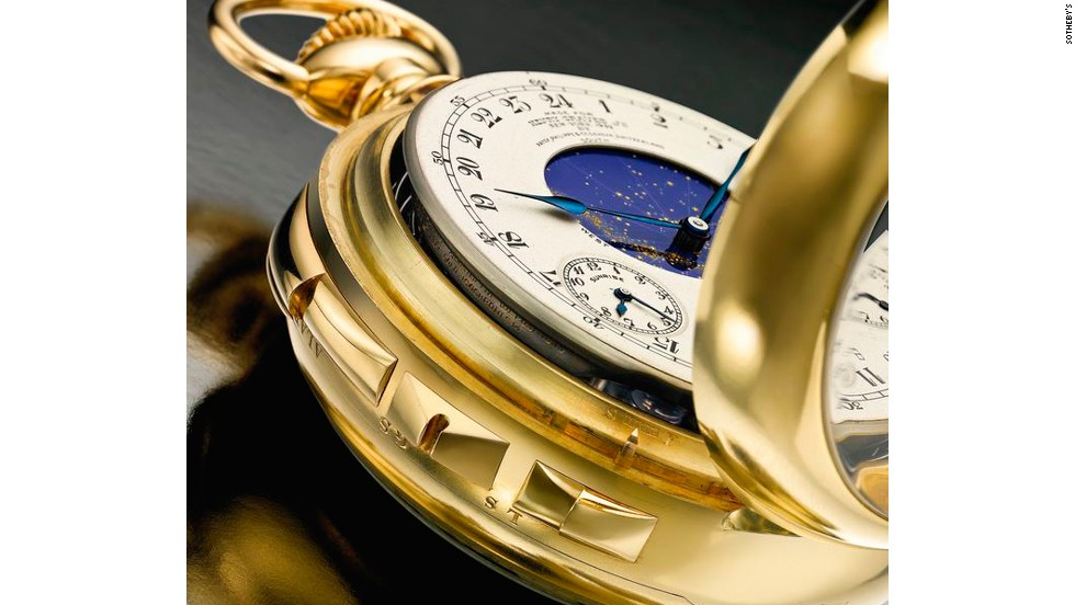 "The timepiece's most impressive feature is a ""celestial map"", which charts the movement of the stars above its former owner's Fifth Avenue apartment."
