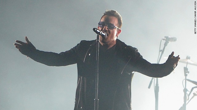 Bono performs on stage during the MTV EMA's 2014 at The Hydro on November 9 in Glasgow, Scotland.