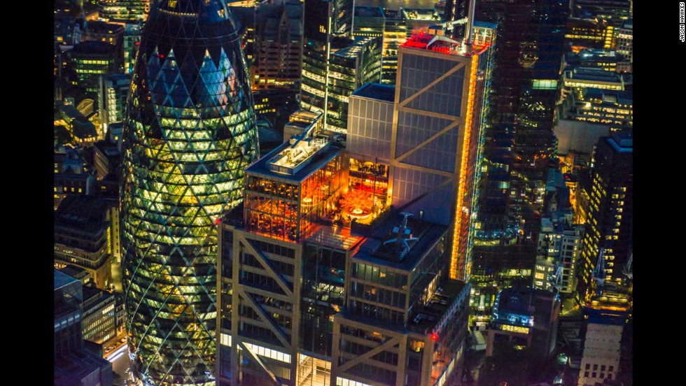 Two restaurants, Duck & Waffle and SUSHISAMBA, sit on top of Heron Tower.
