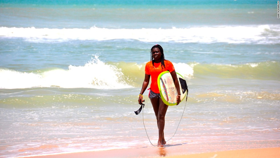 "<strong>The surfers</strong><br /><br />With roughly 100 local and ex-pat active surfers, as well as scores of tourists visiting Dakar each year, you'll be in good company. <br />Some camps make up to $125,000 annually and with flights to Senegal getting cheaper and word getting out about the uncrowded beaches, the numbers of visitors are set to increase. <br />""I employ 15 people from the local community here and every time I have a guest they buy their lunch and drinks from them, so they are getting more business as I bring more business,"" says Mouritzen. <br />"