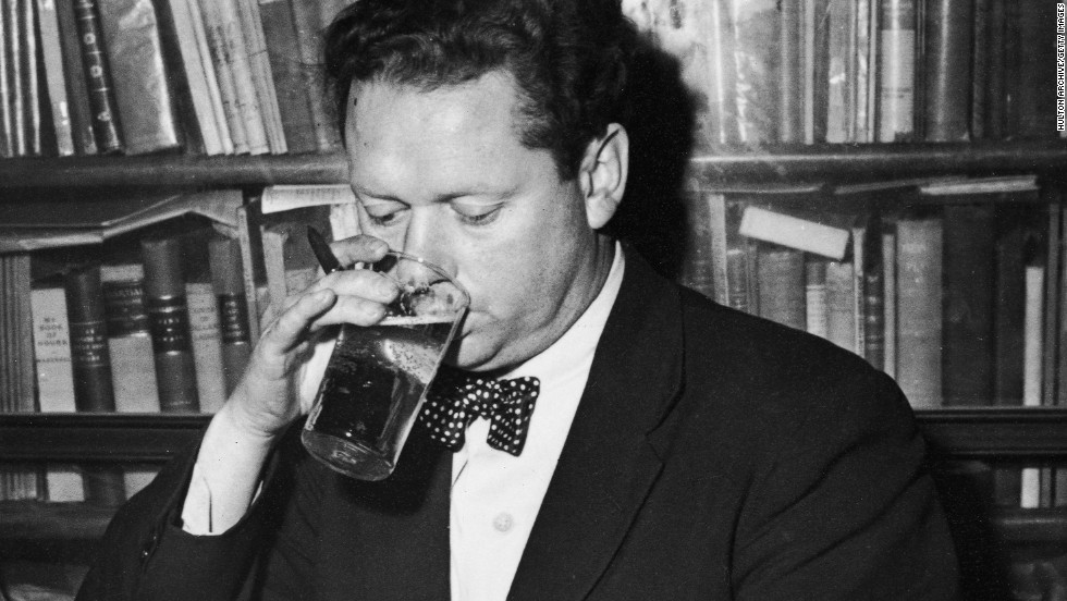 "Thomas was known for his hard-drinking lifestyle. He collapsed at New York's Chelsea Hotel shortly after reportedly announcing: ""I've had 18 straight whiskies. I think that's the record!"" He died in hospital several days later."