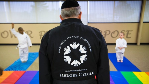 """""""We use martial arts as a platform for meditation, for relaxation, to allow children to gain these tools and to really face down so much of the fear and the anger and the junk that accompanies pain,"""" Goldberg said."""
