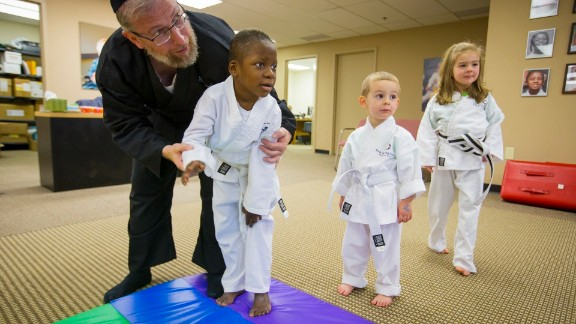 Goldberg teaches at the Kids Kicking Cancer Center in Detroit.