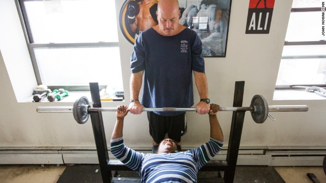 CNN Hero nominee Ned Norton photographed at his gym, Warriors on Wheels, on Thursday, October 16, in Albany, New York.