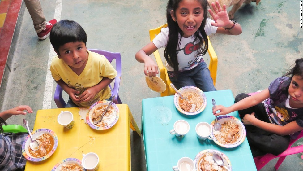 The group's feeding program provides a nutritious meal to more than 100 children each day. For many of them, it is the only meal they will have all day, Romero Fuentes said.