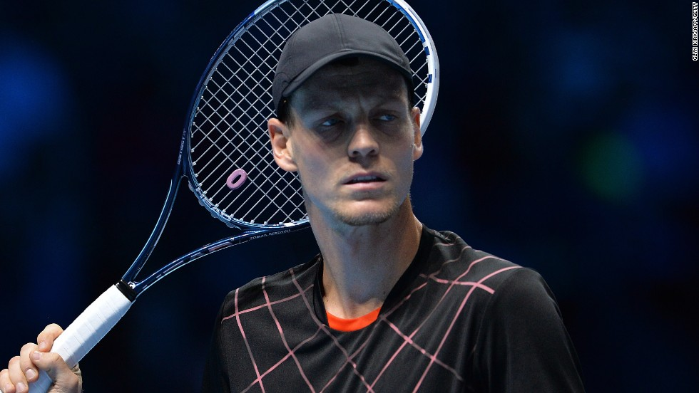 Czech Berdych slipped to his second defeat in the group stages to be eliminated from the competition.