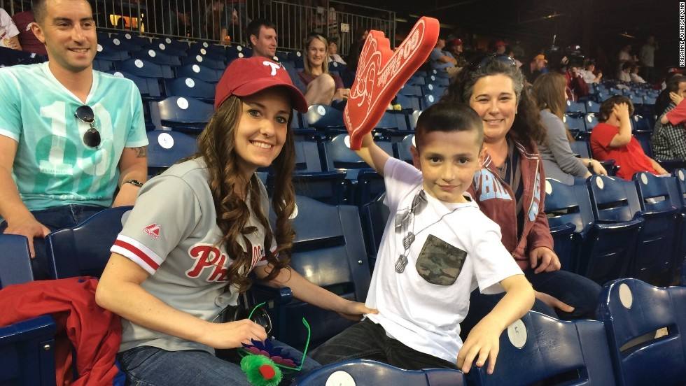 Ross helps prepare families for Phillies games by providing booklets illustrating each step of the game. She also escorts families to their first game, and each family is paired with a clinician should additional support be required.