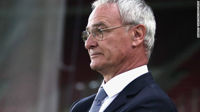 A pensive Claudio Ranieri looks on as his side went down to a 1-0 defeat to the Faroes Islands in Athens.