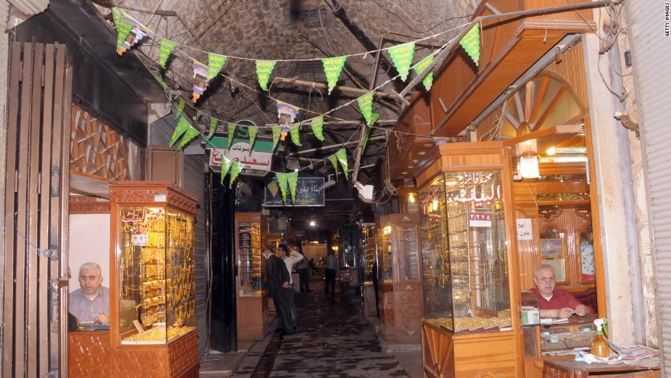 "The covered markets in the Old City are a famous trade center for the region's finest produce, with dedicated sub-souks for fabrics, food, or accessories. The tunnels became the scene of fierce fighting and many of the oldest are<strong> </strong>now damaged beyond recognition, which Unesco has<strong> </strong><a href=""http://whc.unesco.org/en/news/940/"" target=""_blank"">described as a tragedy</a>."