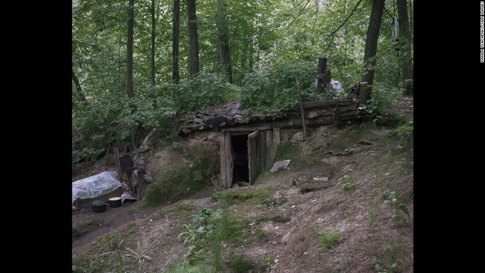 A hermit's shelter in Russia.