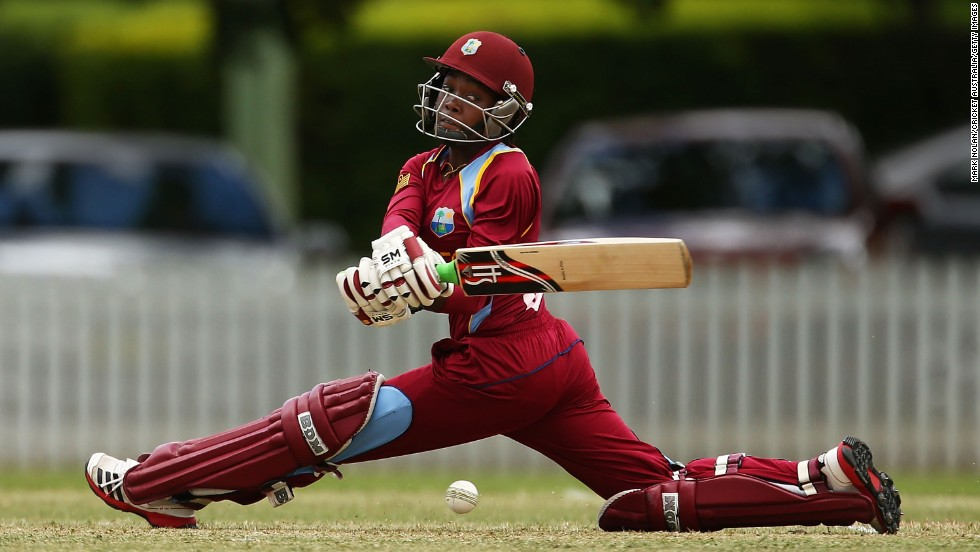 Shemaine Campbelle, a cricket player for the West Indies, bats during a One Day International match played against Australia on Sunday, November 16. The Australians won the match by eight wickets.