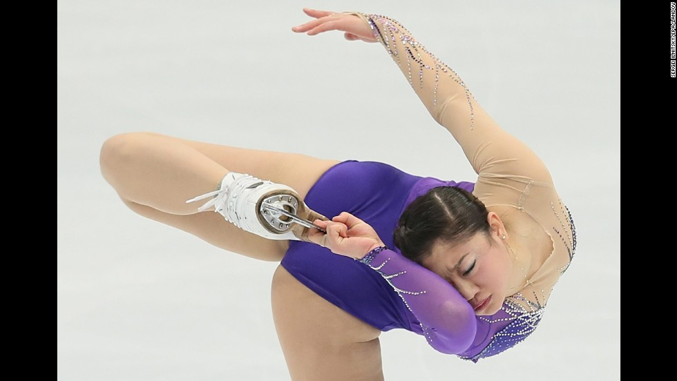 American figure skater Mirai Nagasu performs her short program Friday, November 14, during the Rostelecom Cup in Moscow. The Rostelecom Cup is part of a series of events called the Grand Prix of Figure Skating.