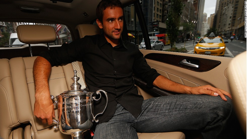 Cilic, only the third player outside the 'Big Four' to win a grand slam since 2005, enjoys the Champions New York City trophy tour.