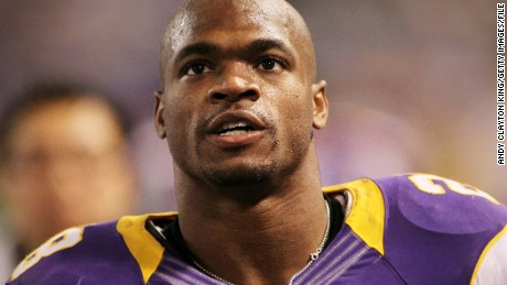 Minnesota Vikings running back Adrian Peterson was suspended by the NFL in November.