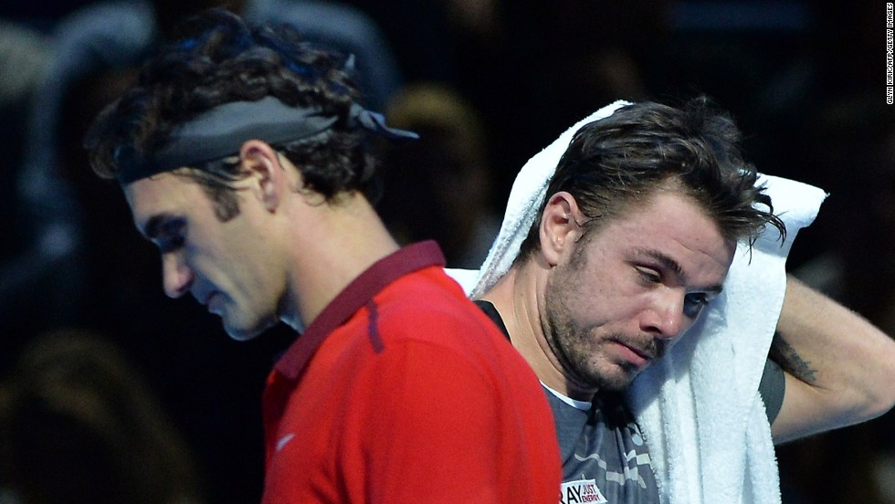 After Roger Federer's tight three-set win over Stan Wawrinka, right, at the World Tour Finals, talk of a division between the two Swiss ahead of this weekend's Davis Cup final against France surfaced.