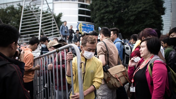 There were no signs of resistance from protesters, some of whom helped bailiffs, police and CITIC representatives move barricades away on November 18.