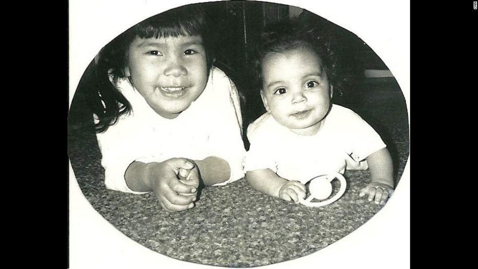 This is my big sister Darlene and me a few months after I was adopted. To this day, even though we are both grown, she's still my big sis.