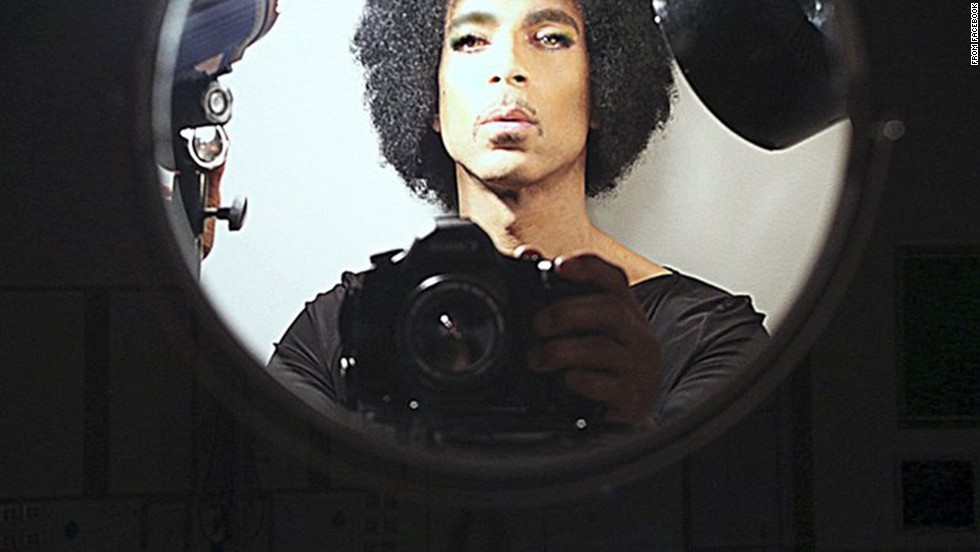 "Legendary musician Prince puts his own spin on the social media selfie. He used a real camera instead of a cell phone in this photo <a href=""https://www.facebook.com/prince/photos/pcb.603077809796443/603077719796452/?type=1&theater"" target=""_blank"">posted to his Facebook account</a> on Tuesday, November 11."