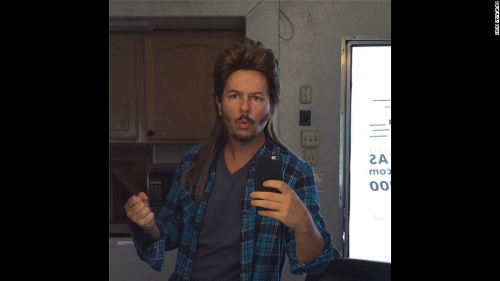 "Actor David Spade was in full costume Monday, November 17, for the filming of the upcoming ""Joe Dirt"" sequel. ""Day 1. Lets get this s*** started!"" <a href=""http://instagram.com/p/vgOhivKxEU/?modal=true"" target=""_blank"">Spade wrote on Instagram.</a>"