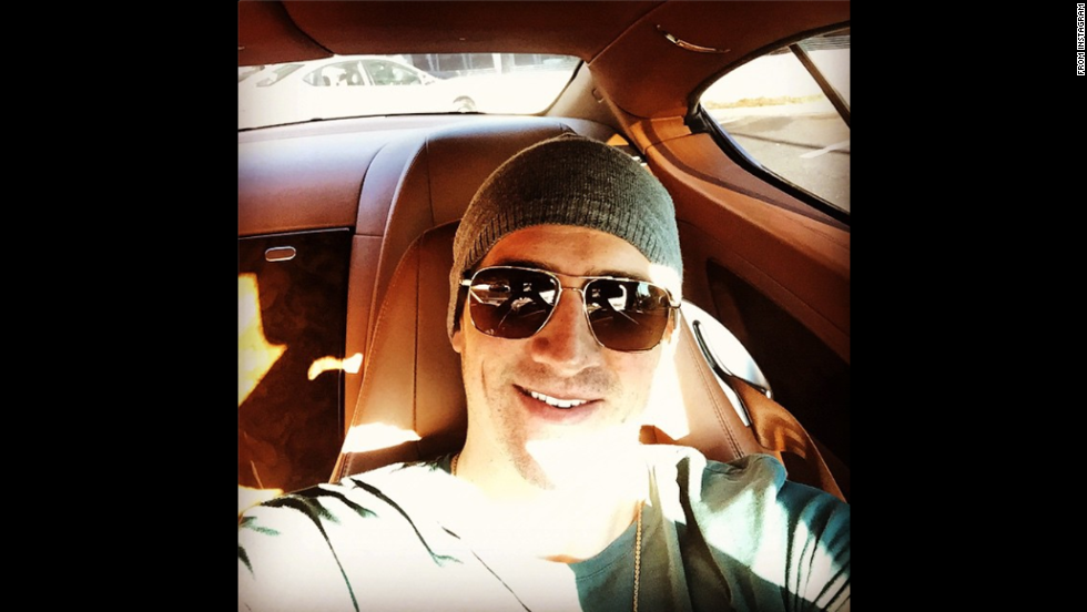 """Sunday stroll!"" wrote swimmer Ryan Lochte in the selfie <a href=""http://instagram.com/p/vewN4rBGn8/?modal=true"" target=""_blank"">he posted to Instagram</a> on November 16."
