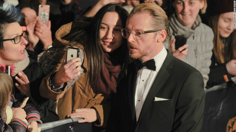 "Actor Simon Pegg attends the Scottish BAFTA awards Sunday, November 16, in Glasgow, Scotland. <a href=""http://www.cnn.com/2014/11/12/living/gallery/look-at-me-1112/index.html"">See 18 selfies from last week</a>"