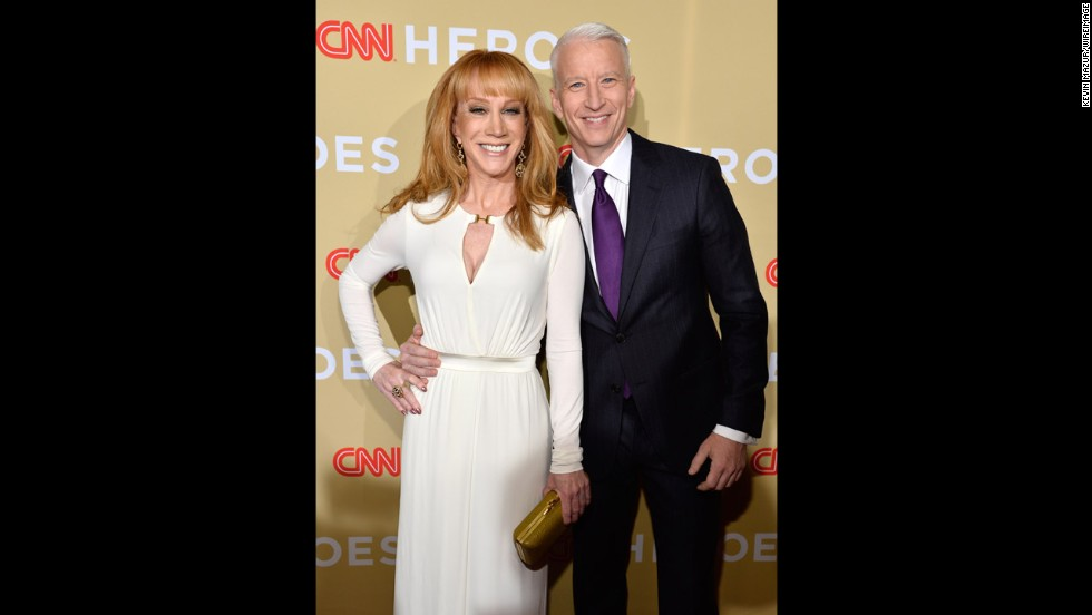 Comedian Kathy Griffin and host Anderson Cooper