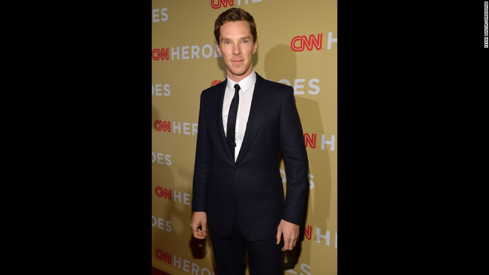 "Actor Benedict Cumberbatch was among the celebrities on the red carpet for ""CNN Heroes: An All-Star Tribute."""