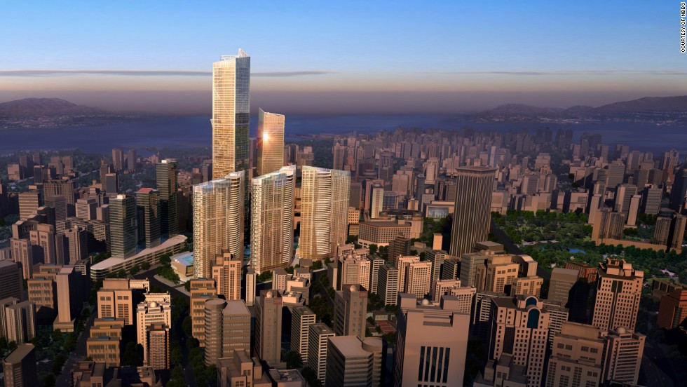 <strong><em><u>Name:</u></em></strong> Dalian Eton Place Tower 1<br /><br /><strong><em><u>Location: </u></em></strong>Dalian, China<br /><br /><strong><em><u>Height:</u></em></strong> 383.1 meters (1,257 feet)<br /><br /><strong><em><u>Description:</u></em></strong> The tallest building in a complex of sparkling new buildings, Dalian Eton Place Tower 1 will rank among China's tallest buildings when completed and contain space for apartments, offices, retail space and entertainment facilities.