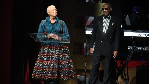 Bill Cosby and his wife Camille Cosby speak onstage at the Apollo Theater 75th Anniversary Gala at The Apollo Theater on June 8, 2009 in New York City. (Photo by Bryan Bedder/Get... Re
